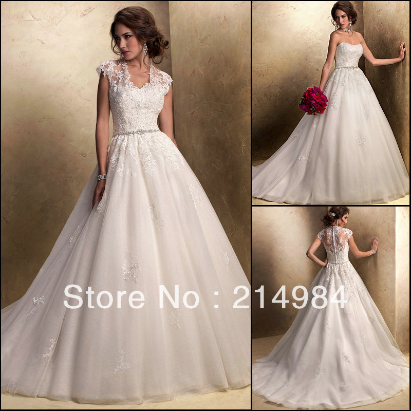 Ball Gown Wedding Dresses With Short Sleeves : Aliexpress buy short sleeve jacket ivory organza