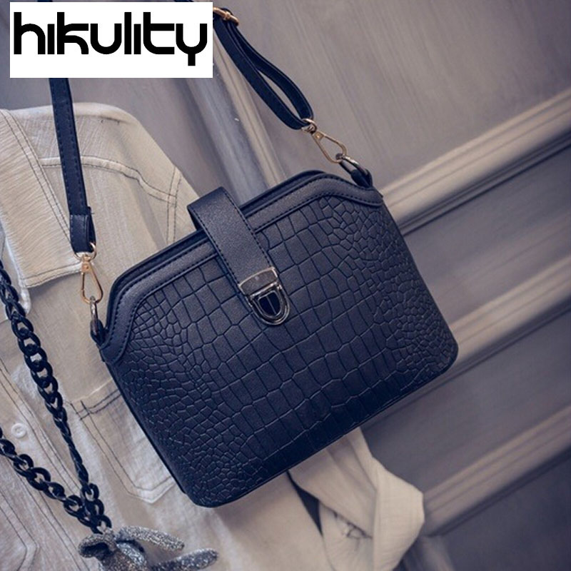 HIKULITY 2016 New Fashion Candy Color Lovely Stone Quality Zipper Lock Women Shell Shoulder Bags Messenger Bags Sac A Main<br><br>Aliexpress