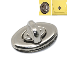 "10Sets Silver Tone Purse Twist Turn Lock Bag Accessories 3.5x3.3cm(1 3/8""x1 2/8"")(China (Mainland))"