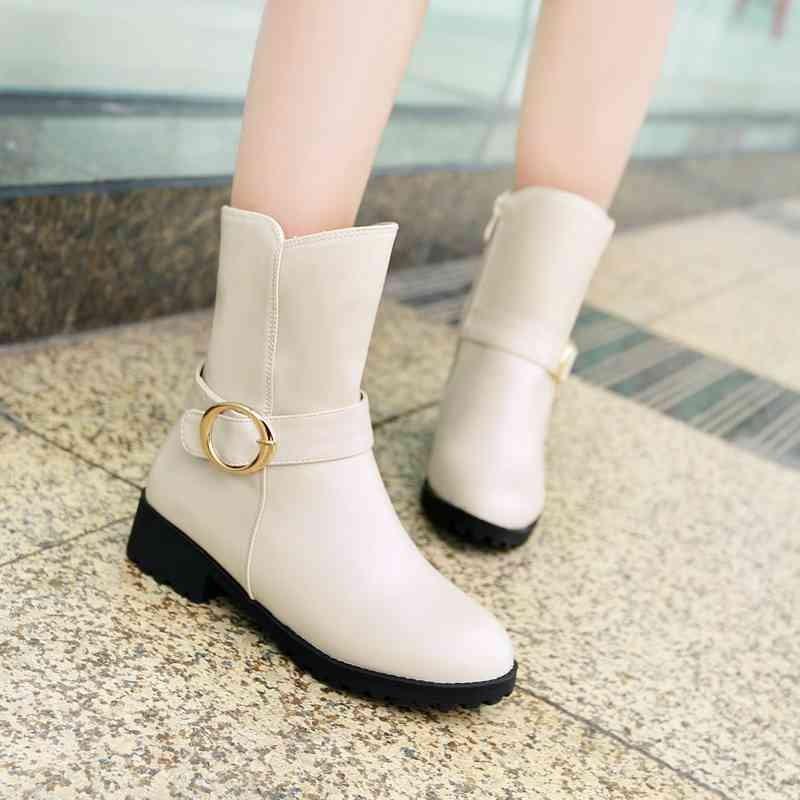 ซื้อ พลัสSize34-44 2016ใหม่เซ็กซี่รองเท้าครึ่งหนึ่งของผู้หญิงหัวเข็มขัดรองเท้ากันน้ำฤดูหนาวหญิงชุดรองเท้าหิมะSBT1662