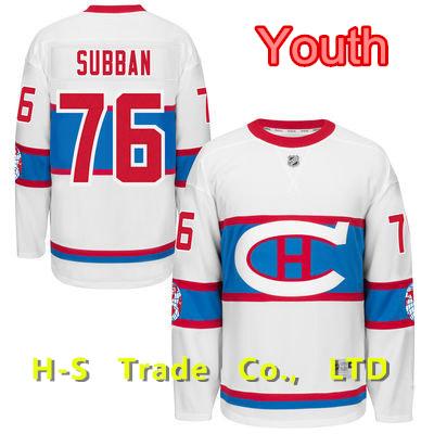 Cheap Youth P.K Subban Jersey Kids Montreal Canadiens 2016 Winter Classic Jerseys 76 PK Hockey Patch