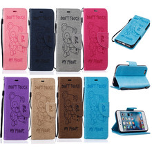 "Buy Luxury Teddy bear Embossing PU Leather Case Apple iPhone 6 6S 6G 4.7"" Wallet Stand Flip Phone Cover Card Slot Case for $3.39 in AliExpress store"