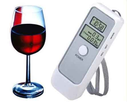 Dual LCD Alcohol tester blowing alcohol breath testing equipment to detect drunk driving, alcohol tester(China (Mainland))