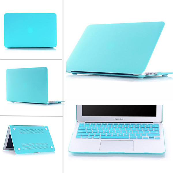 Light Sky Blue Matte Frosted Crystal Hard Case Shell For MacBook Pro 13 15 Retina Air 11 12 13 Free Keyboard Cover(China (Mainland))