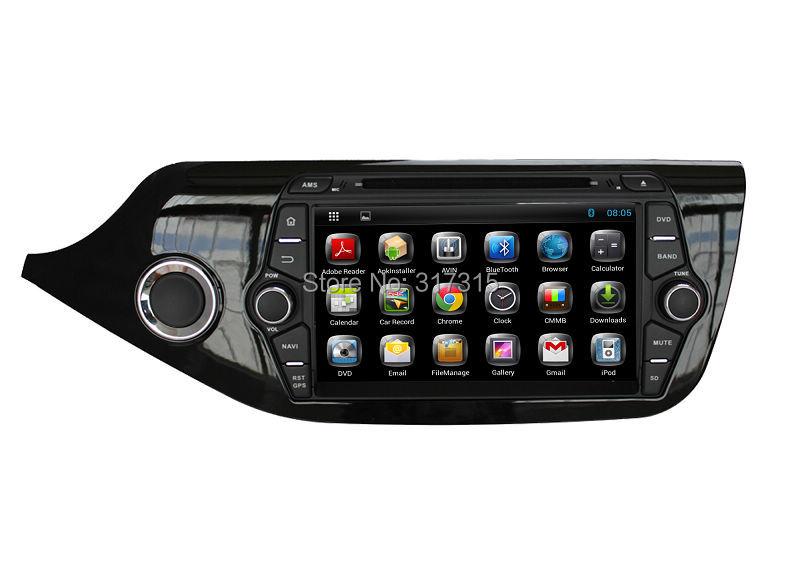 Android 4.4 Head Unit Car DVD Player for Kia Ceed 2012 2013 2014 w/ GPS Navigation Radio BT USB AUX DVR 3G WIFI Audio Stereo(China (Mainland))