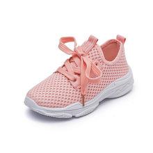 קיץ ילדי נעלי בני בנות לנשימה בד לבן נעלי 1-16 שנים רך תחתון 2018 חדש בית ספר נטו בד סניקרס(China)