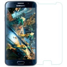 0.3mm Tempered Glass for Samsung Galaxy S6 9H Hard 2.5D Arc Edge Round Border Front Screen Protector with Clean Tools