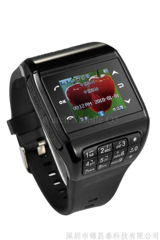 Wrist watch phone new watch phone Q5 Q8 Q8 + Dual SIM semi-intelligent waterproof QQ camera(China (Mainland))