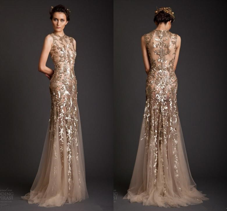 High Quality Gold Evening Dress Gown-Buy Cheap Gold Evening Dress ...