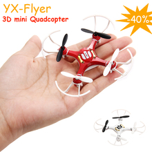 NEW Mini Explorers RC Quadcopter 3D Flying 2.4Ghz 4CH 6-Axis GYRO Headless LED Drone White RED YX Flyer RC Quadrocopter Top Sale