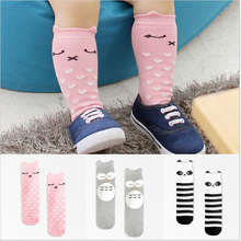 Newborn Toddler knee high sock Baby Boy Girl Socks anti slip Cute Cartoon Cat Skid Resistance leg warmers For newborns infantile