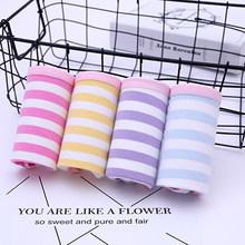 4Pcs/Lot Cotton Panties Women Underwear Sexy Briefs Plus size S-4XL Printing Briefs Seamless Cute Soft Comfort Girls Lingeries(China)