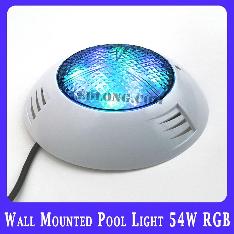 wall build up led Swimming Pool Lights 54w high power RGB wateproof IP68 free shipping(China (Mainland))