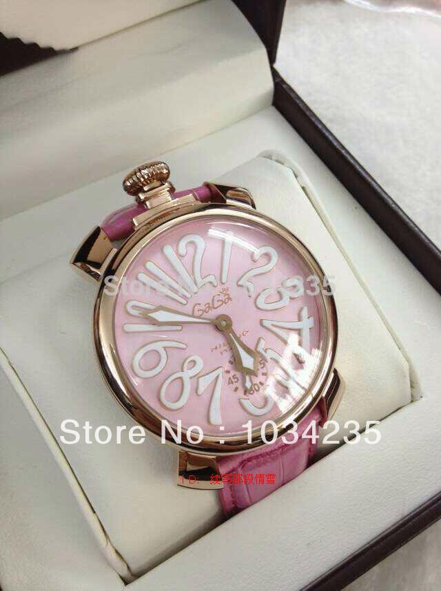 Gaga gold case machinery watch pink women's gaga mechanical female - M&G TEC store