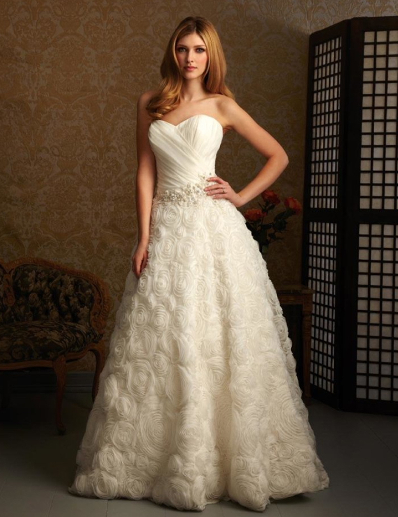 Free shipping new fashion cheap price white ivory for A line ivory wedding dress