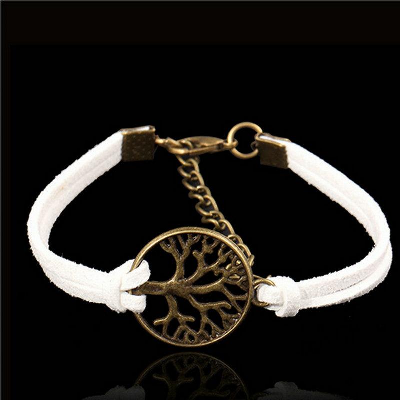 2015Joyme Brand New Fashion Vintage hand-woven Rope Chain Charm Tree life bracelet & bangle Women Men - joyme factory jewelry Store store