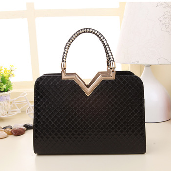 Free Shipping 2014 New Stereotypes PU Bag Plaid Handbag Shoulder Bag Lady Bags