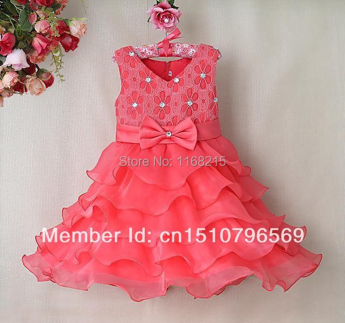 Здесь продается  Wholesale - 2014 girl party dress Stereo rose Girls tape princess skirt girl cake skirt  12p/l  Детские товары