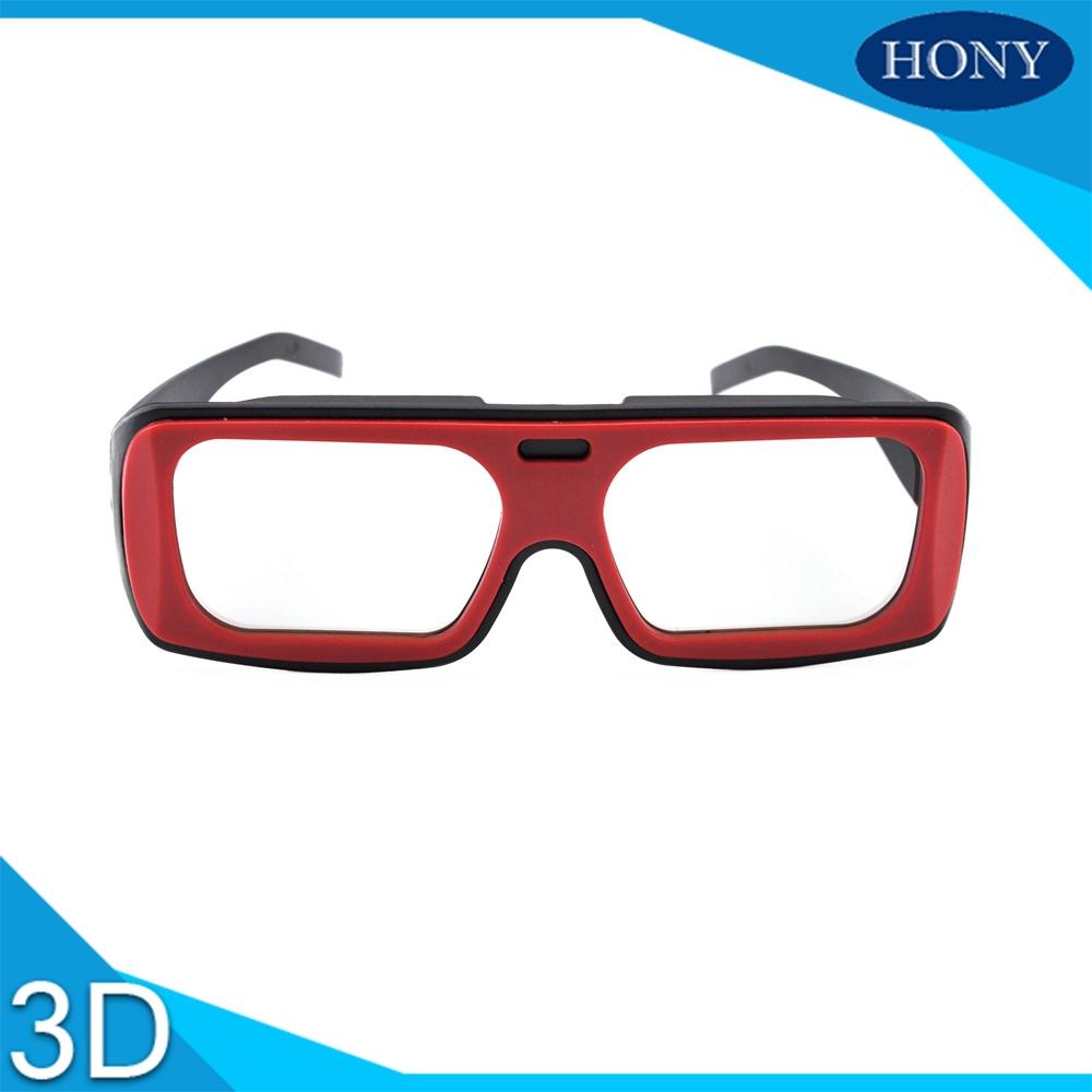 Retail sales Linear polarized 3D glasses PL0009LP adult 3D glasses 3D cinema glasses red black frame(China (Mainland))
