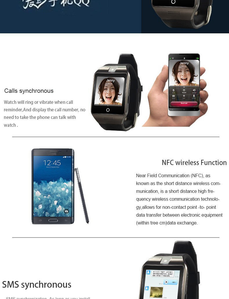 8GB Memory Original APRO Connected Bluetooth Health Clock Wristband Smart Watch Phone for Android iOS PK DZ09 F69 Smartwatch Q18 10