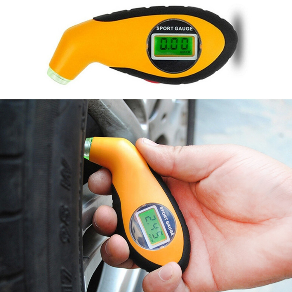 2016 New Products Car Pneumatic Tire Pressure Tire Table Pressure Manometer Pressure Gauge Digital LED Tire Gauge 1Pc Per Set(China (Mainland))