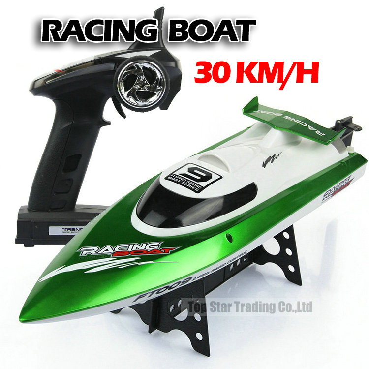 Ft009 2.4g High Speed Racing Rc Boat Ship With Water Cooling Motor System 30km/h Vs Ft012(China (Mainland))