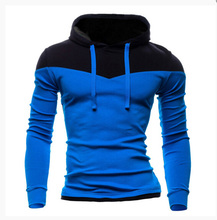 Fashion New Contract Color Hoodies Sweatshirts Men Outerwear Colorful Hoodies Clothing Men Sports Suit 6 Colors