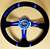 GV-ST002  MOMO 14'' black racing car steering wheel  with  anodized color bracket pvc pu leather steering wheel for auto  350mm