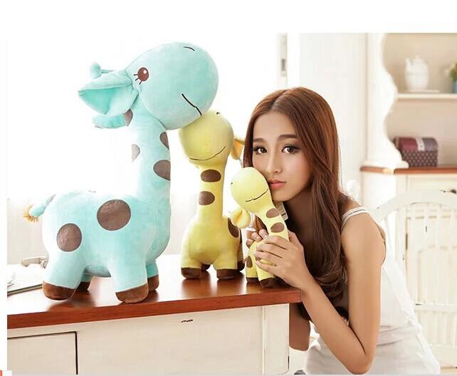 38cm giraffe plush toy cartoon spotted giraffe doll, Christmas gift b4636(China (Mainland))