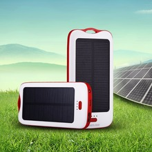Poweradd 5000mAh Solar Panel Dual-USB Waterproof Solar Power Bank for iphone Battery Charger for Phone Portable power