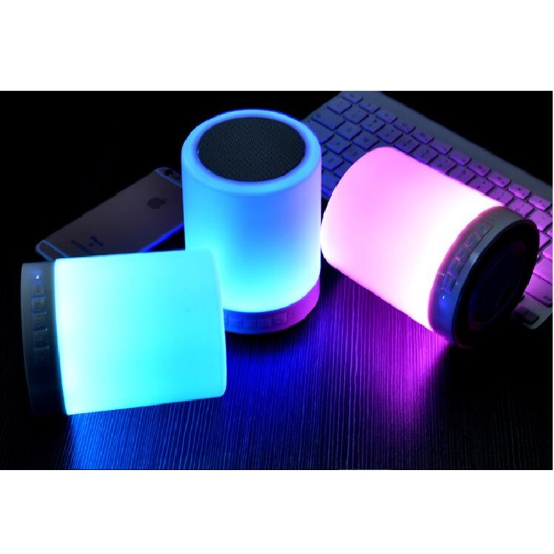 New Colorful Multifunctional Bluetooth Speaker Portable Wireless with Touchable Induction LED Table Lamp/Night light TF Card(China (Mainland))
