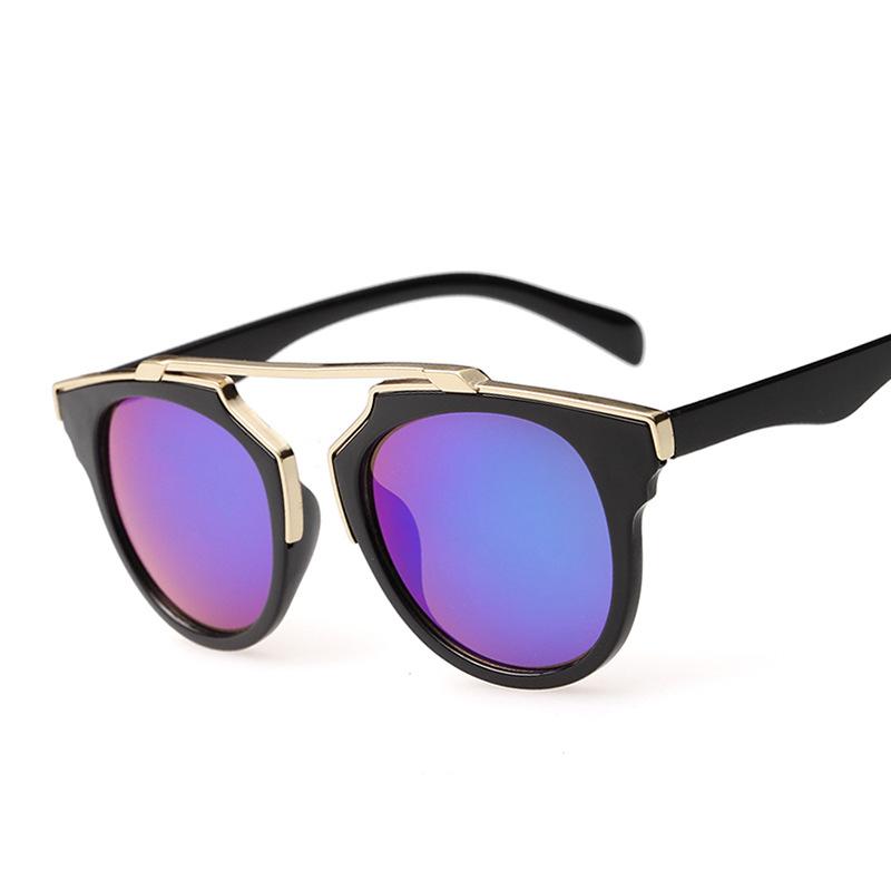 Real Brand Designer Retro Men Sunglasses Cat Eye Mirror