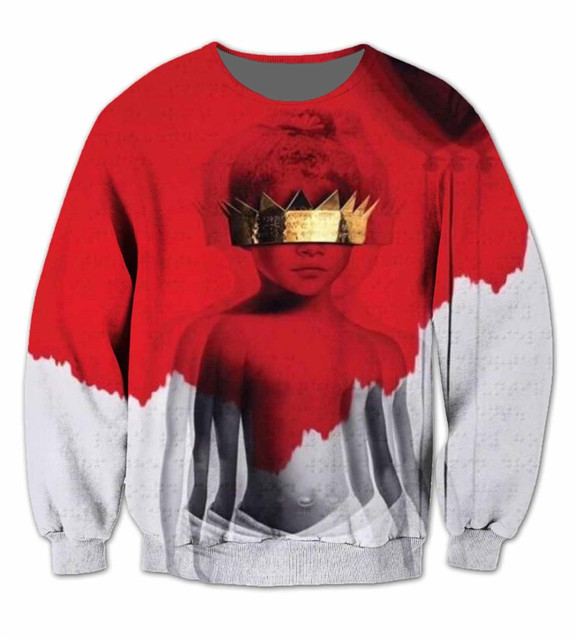 2016 new fashion Women/Men Jumper Outfits sweatshirt 3d character printed Rihanna Anti 3D Sublimation crewneck hoodies sweats