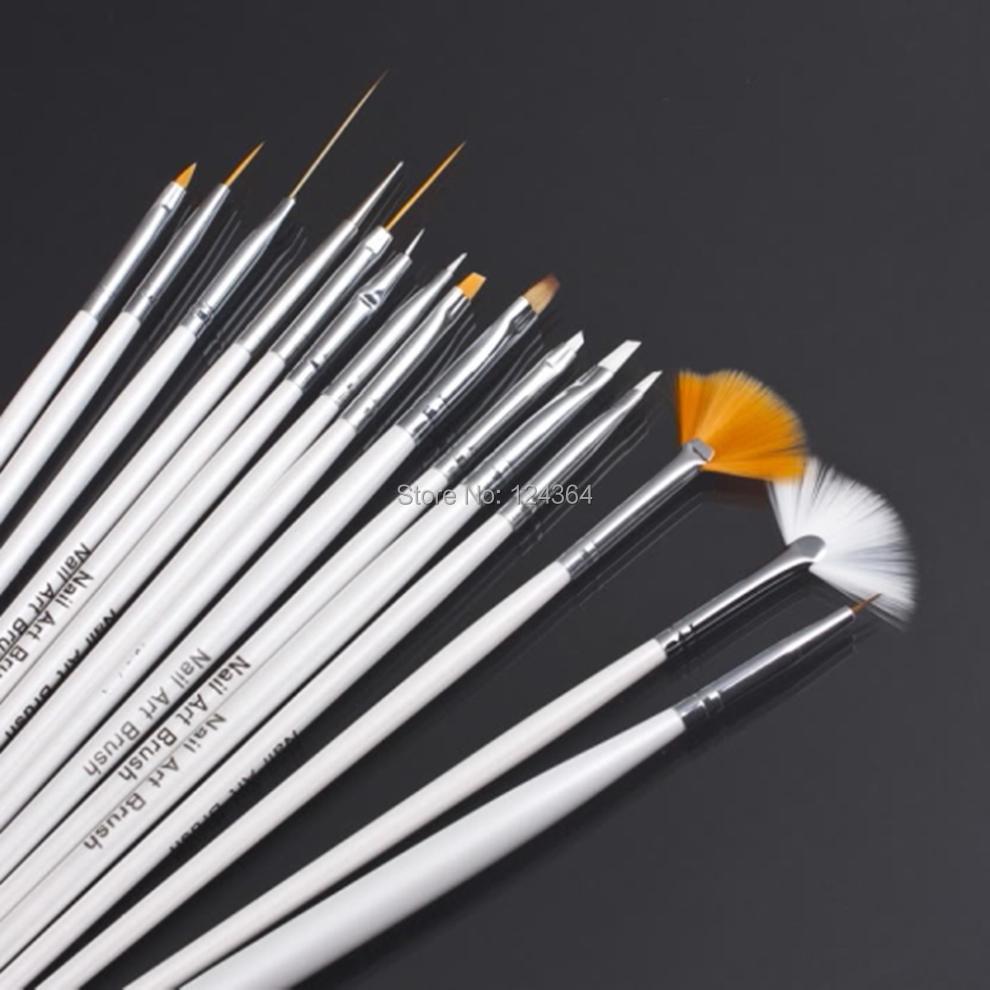 15Pcs/set Nail Art Polish Painting Pen Brush professinal Set for natural/false and 3D Beauty free shipping(China (Mainland))