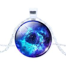 2016 New Fashion Galaxy Necklaces Nebula Space Glass Cabochon Pendants Brand Jewelry for Women Men Best