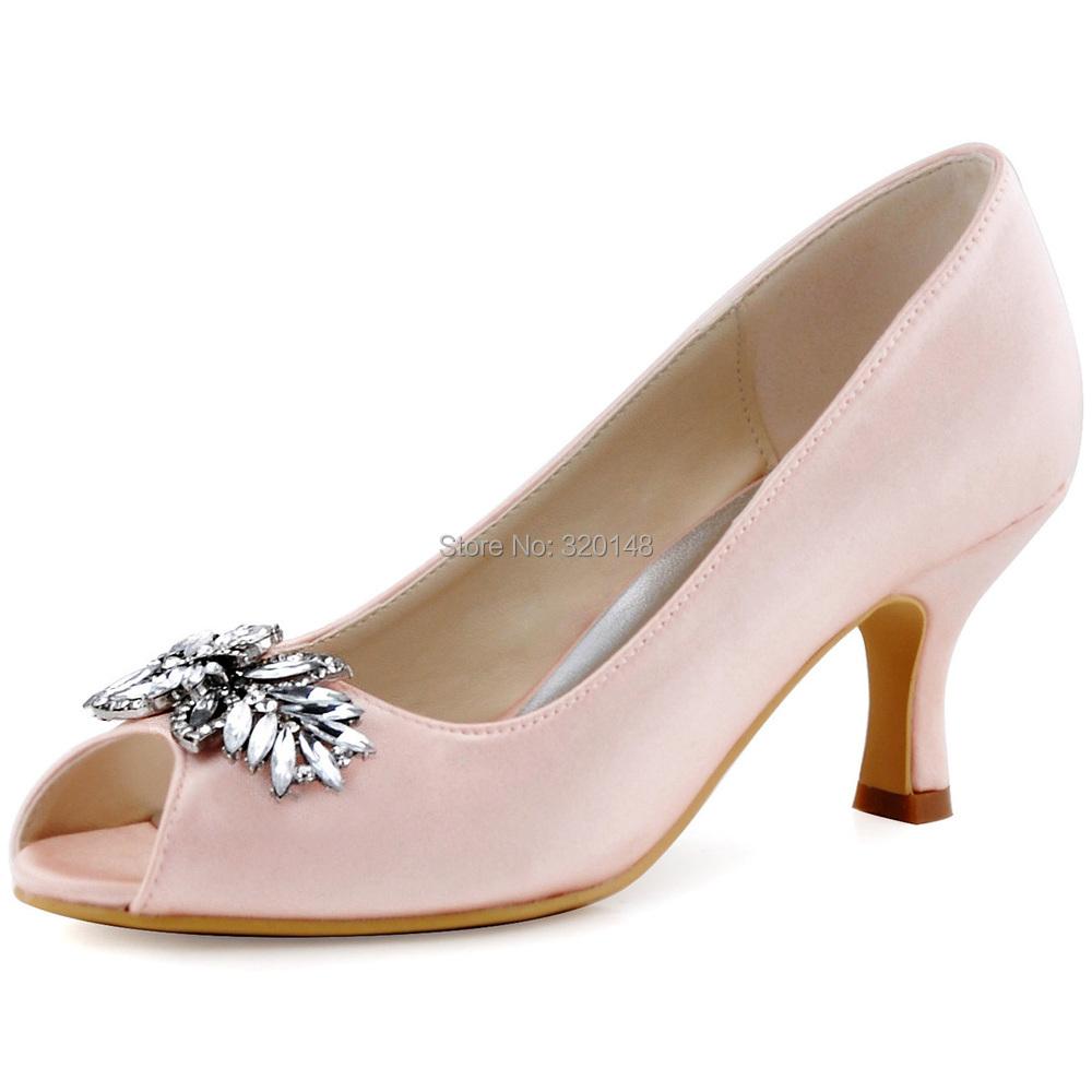 Pink Peep Toe High Heels