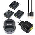 Batmax 3pcs NP W126 NP W126 Rechargeable Battery USB Dual Charger for Fujifilm FinePix HS30EXR X