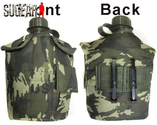 US Camouflage Military Canteen Camping Hiking Outdoor Survival Kettle Flagon Army Water Bottle Aluminum cooking cup 3pcs per set<br><br>Aliexpress