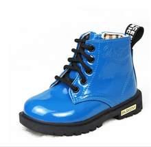 2019 En çok satan Çocuk cilt ayakkabı PU su geçirmez Erkek ve kız deri ayakkabı açık çocuklar sneakers Bebek Çocuk Kar Botları(China)