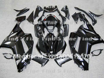 free shipping gloss black for KAWASAKI ZX6R 07 08 ZX 6R 07-08 ZX-6R 2007 2008 2007-2008 ABS fairing kit