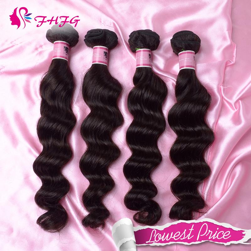 FHFG Accessory Cheap Human Hair 3 Bundle Deals Hot Selling Peruvian Loose Wave Hair Extensions Online hair weave virgin hair(China (Mainland))