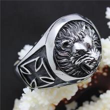 73g Heavy Lion King  Black CZ Eye Bracelet 316L Stainless Steel Cool Punk Style Bracelet Bangle