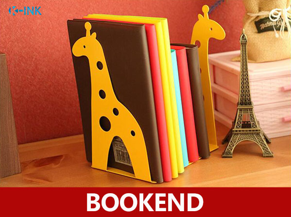 Cartoon Animal Heavy Duty Metal Book Ends , Giraffe / Elephant Pair Of Shelf Bookends , book stand for home and office(China (Mainland))