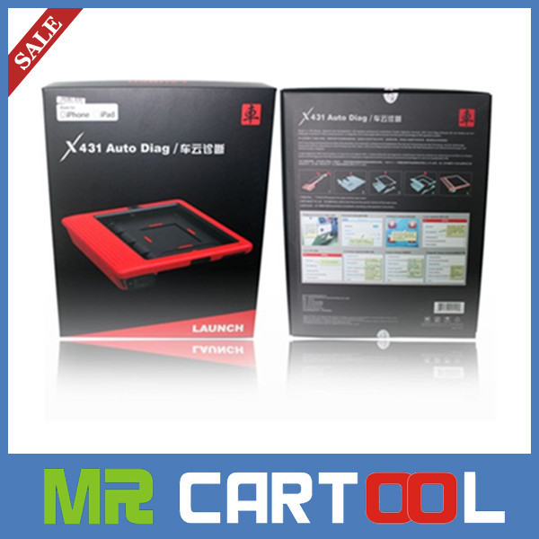 2014 free shipping 100% original IPAD and Iphone x-431 Auto Diag Launch X431 Scanner Launch X431 Auto Diag Scanner(Hong Kong)