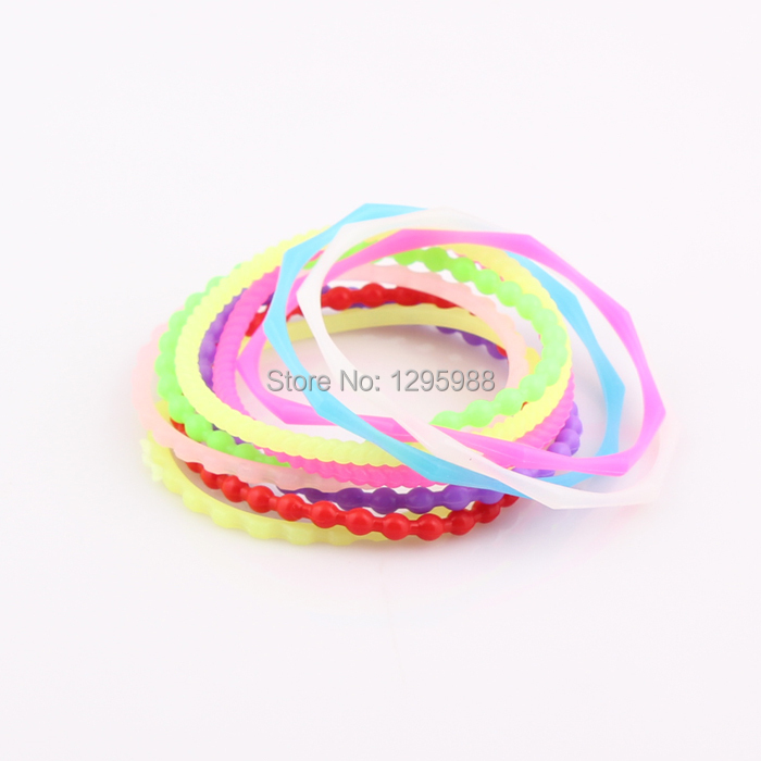 neon color fluorescent rubber bands bracelet rainbow elastic rubber bands bracelet bangles free. Black Bedroom Furniture Sets. Home Design Ideas
