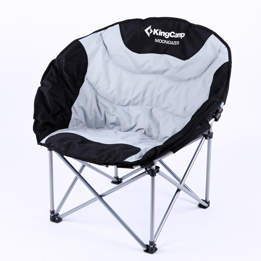 KingCamp Hot Deluxe Moon Fishing Chair Fashion Folding Chairs Outdoor Portable Comfortable Beach Chairs for Travel