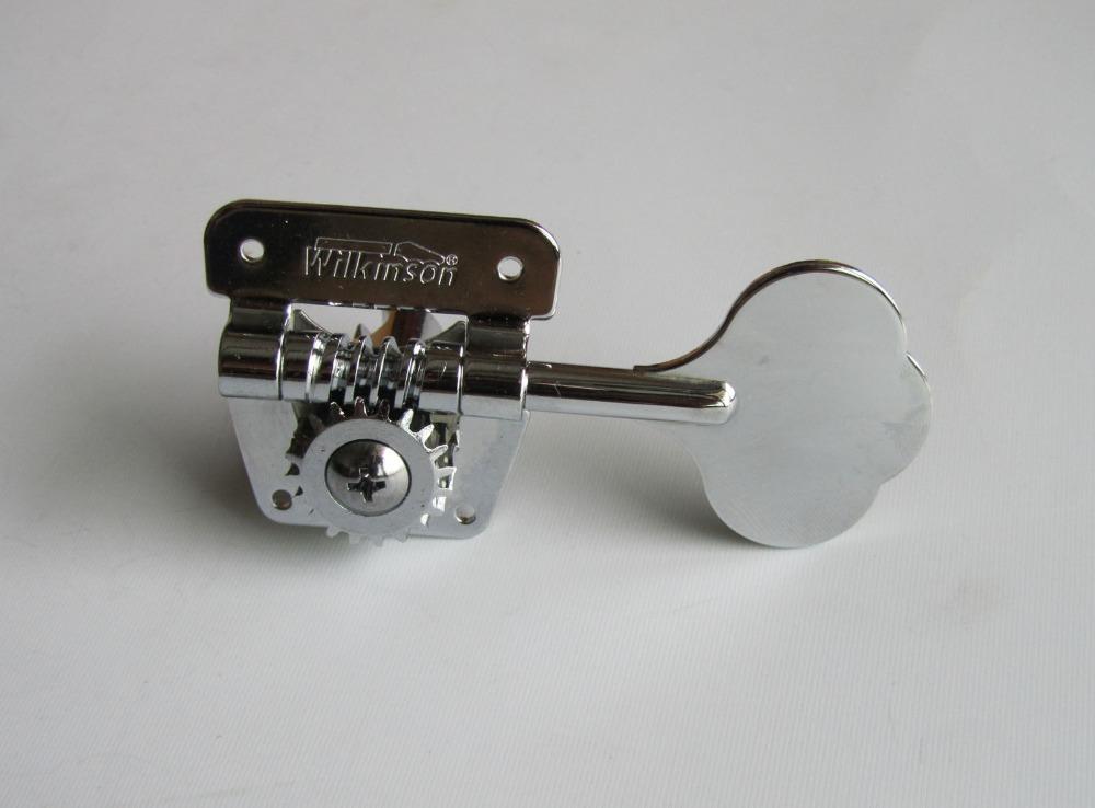 Wilkinson 4 Right Handed Bass Tuners WJBL-200 Tuning Keys Machine Heads Chrome(China (Mainland))