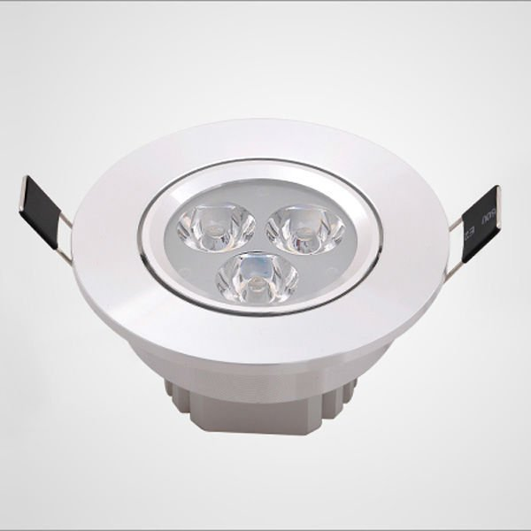 High power LED AC85-265V input 3*1W  LED Downlight with  Epistar chip Warranty for 2 years