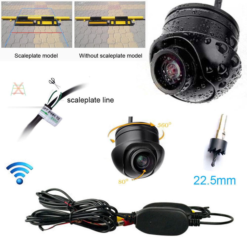 Fochutech Wireless Car Rear View CCD Waterproof 170degree angle vision Front Backup Side Parking Camera(China (Mainland))