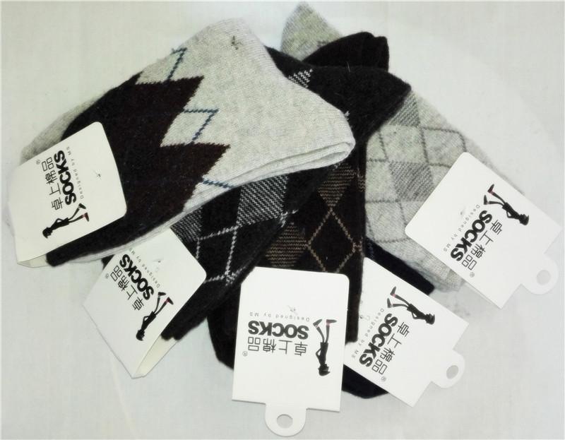 5pairs men socks lot high quality winter men s wool socks thickening stripe cotton male socks